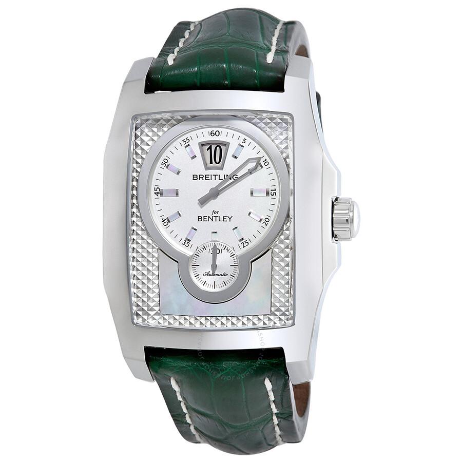 Breitling Bentley Flying B Green Leather Men's Watch
