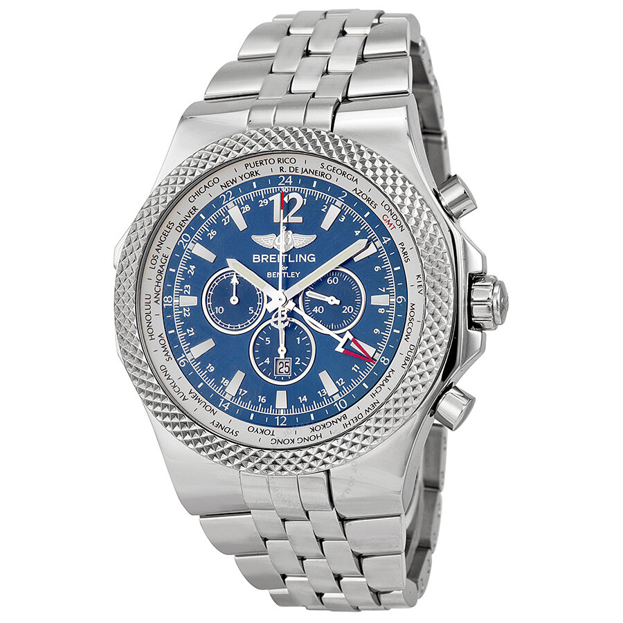 Breitling Bentley GMT Chronograph Automatic Blue Dial Men
