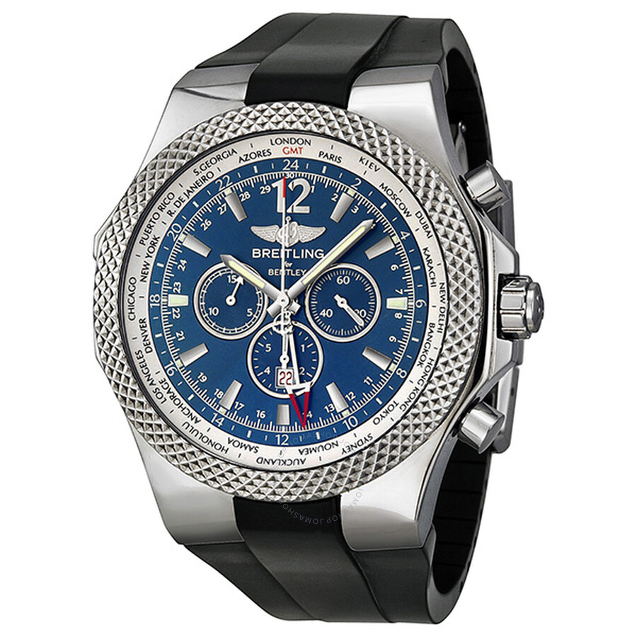 Breitling Bentley GMT Chronograph Automatic Blue Dial