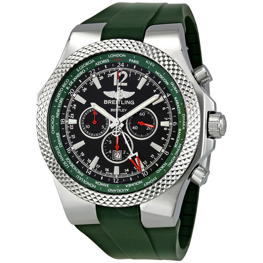 Breitling Bentley GMT Green Dial Chronograph Men's Watch
