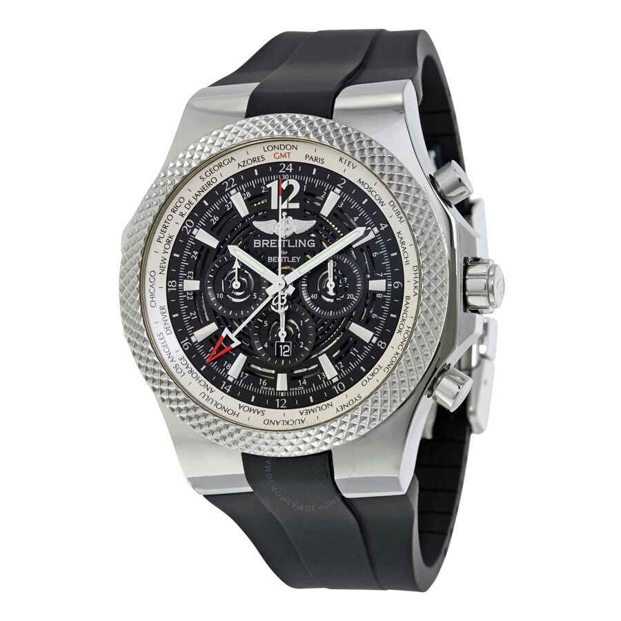 Breitling Bentley GMT Midnight Carbon Automatic Men's