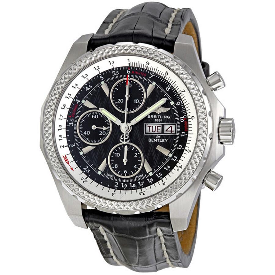 Breitling Bentley Gt Racing Black Dial Chronograph Men S Watch A1336313 B960bkct