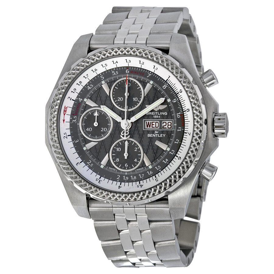Breitling Bentley Gt Wristwatches: Breitling Bentley GT Racing Grey Dial Chronograph Men's