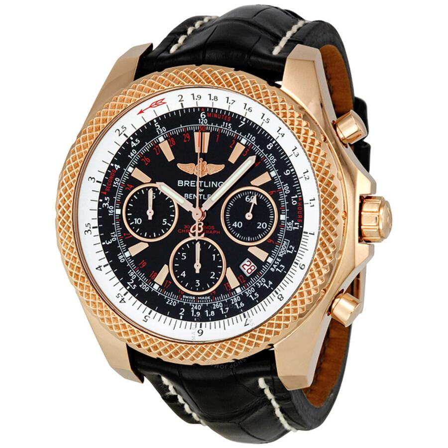 Breitling bentley motors speed 18kt rose gold men 39 s watch for Breitling for bentley motors watch price