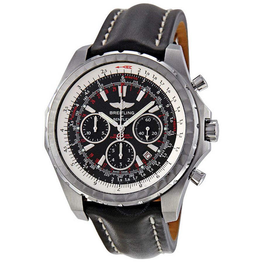 Breitling Bentley Motors T Black Dial Chronograph Men's