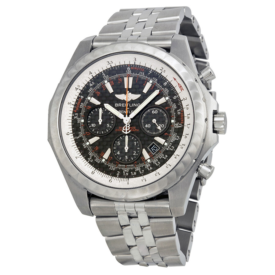 Breitling Bentley Motors T Black Dial Stainless Steel Men