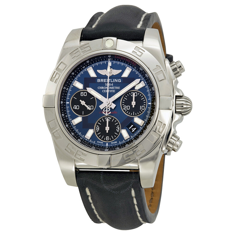 e413c0f0dbf Breitling Chronomat 41 Automatic Blue Dial Black Leather Men s Watch  AB014012-C830BKLT Item No. AB014012 C830