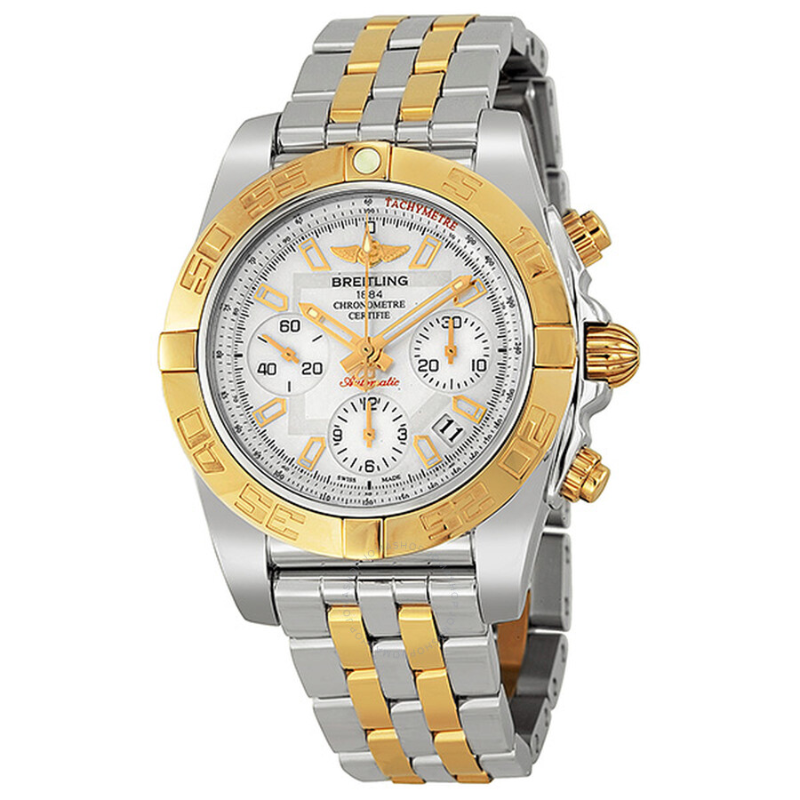 25a4997529f Breitling Chronomat 41 Mother of Pearl Dial Men s Watch CB0140Y2 A743 ...