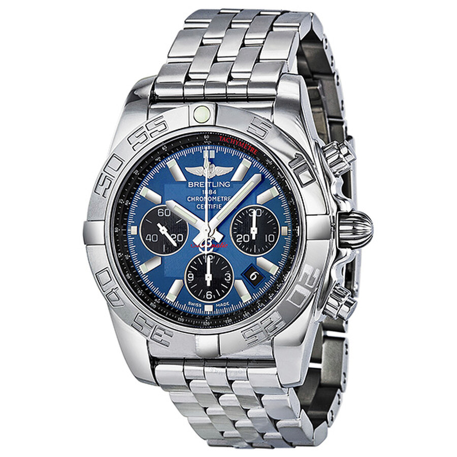 super popular 17b4e 19fd0 Breitling Chronomat 44 Automatic Chronograph Blue Dial Men's Watch  AB011012-C789
