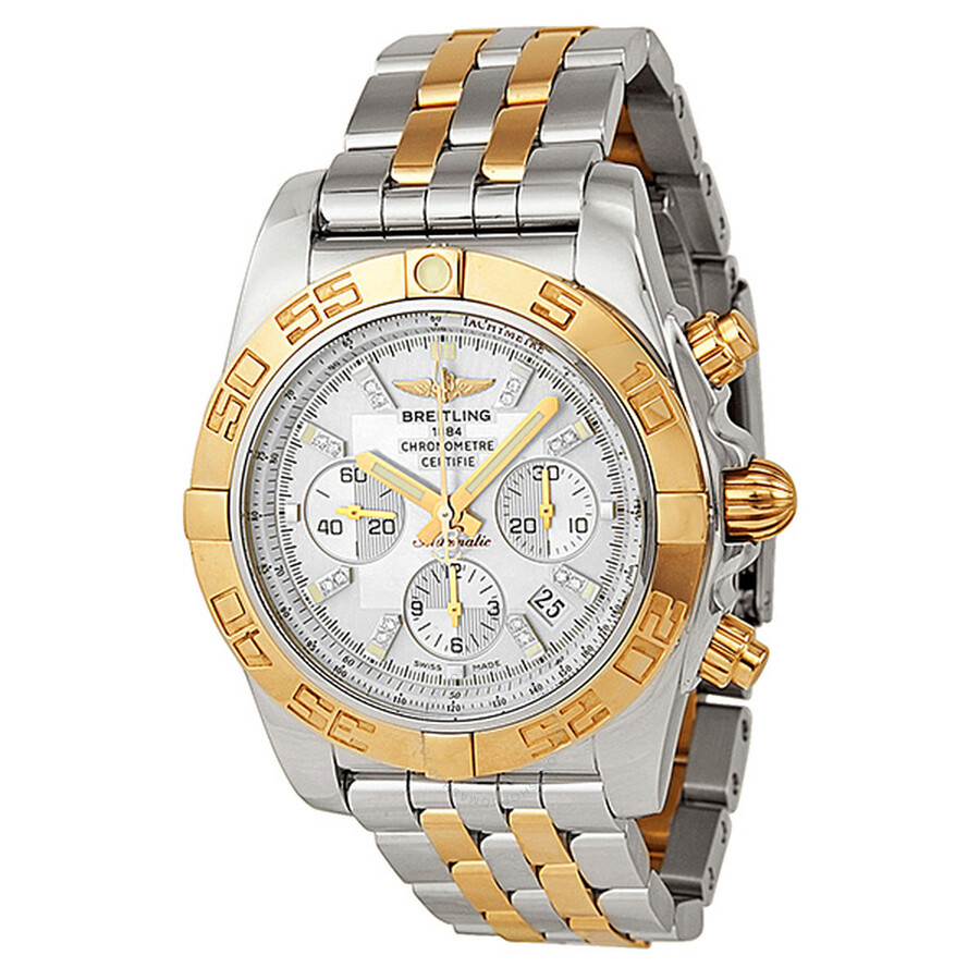 2b346e40dfc9 Breitling Chronomat 44 Mother of Pearl Diamond Two-Tone Men s Watch  CB011012-A698TT ...