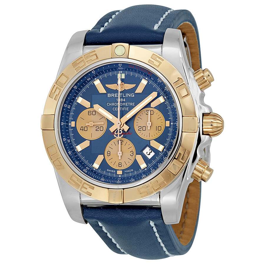 Breitling chronomat blue dial automatic watch cb011012 c790blld chronomat chronomat for Breitling automatic