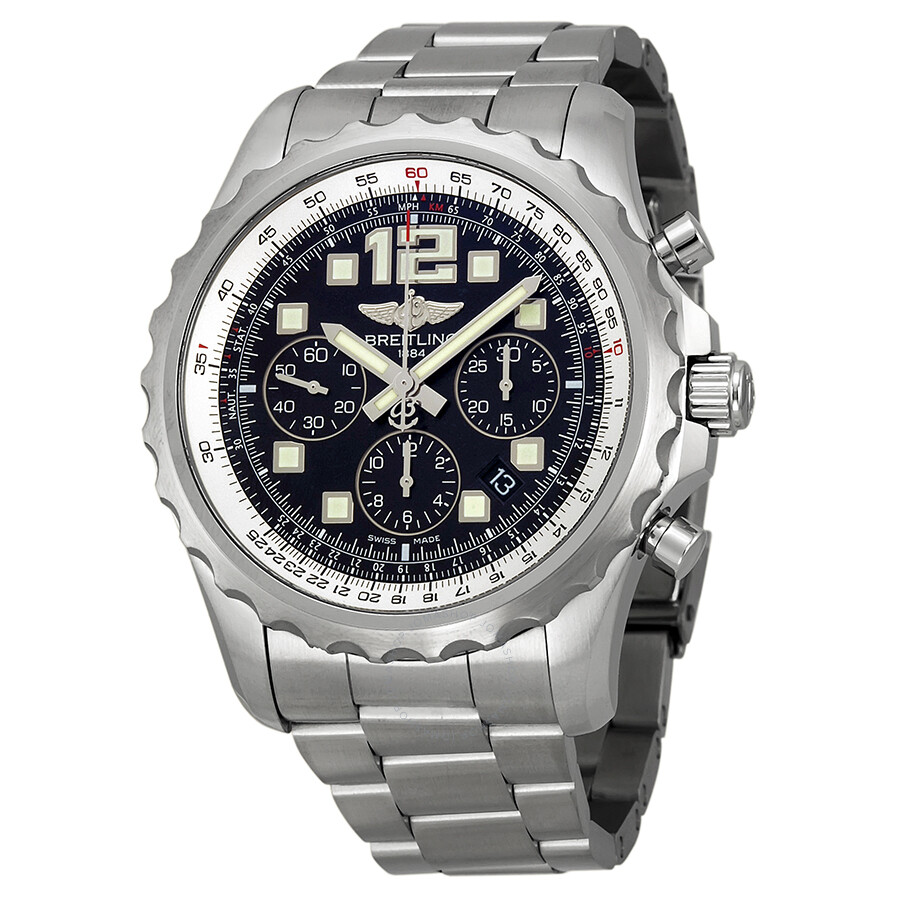 Breitling chronospace auto black stainless steel automatic men 39 s watch a2336035 ba68ss for Breitling automatic