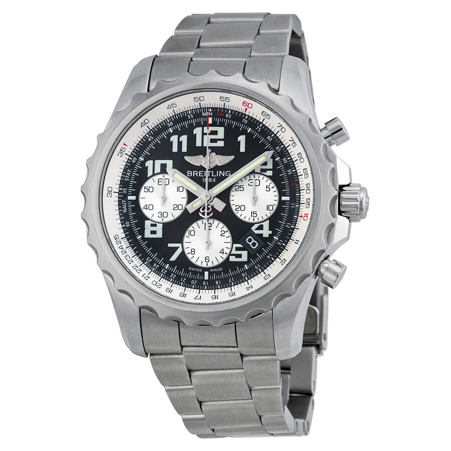 breitling chronospace chronograph automatic black dial stainless steel men 39 s watch a2336035. Black Bedroom Furniture Sets. Home Design Ideas