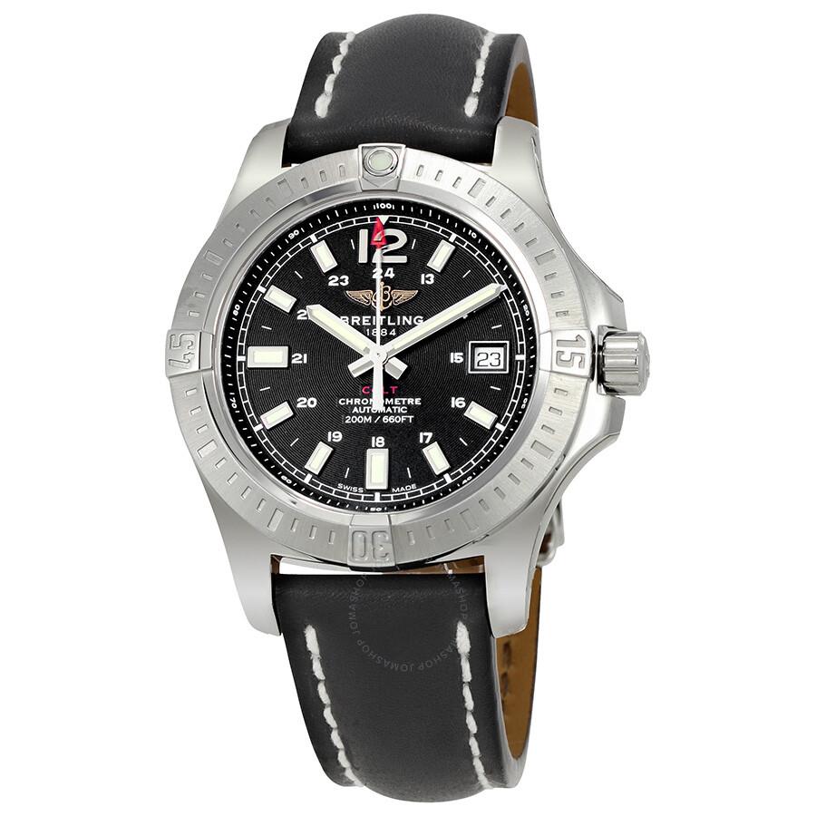 Breitling colt 41 automatic black dial men 39 s watch a1731311 be90 429x a18d 1 colt breitling for Breitling automatic