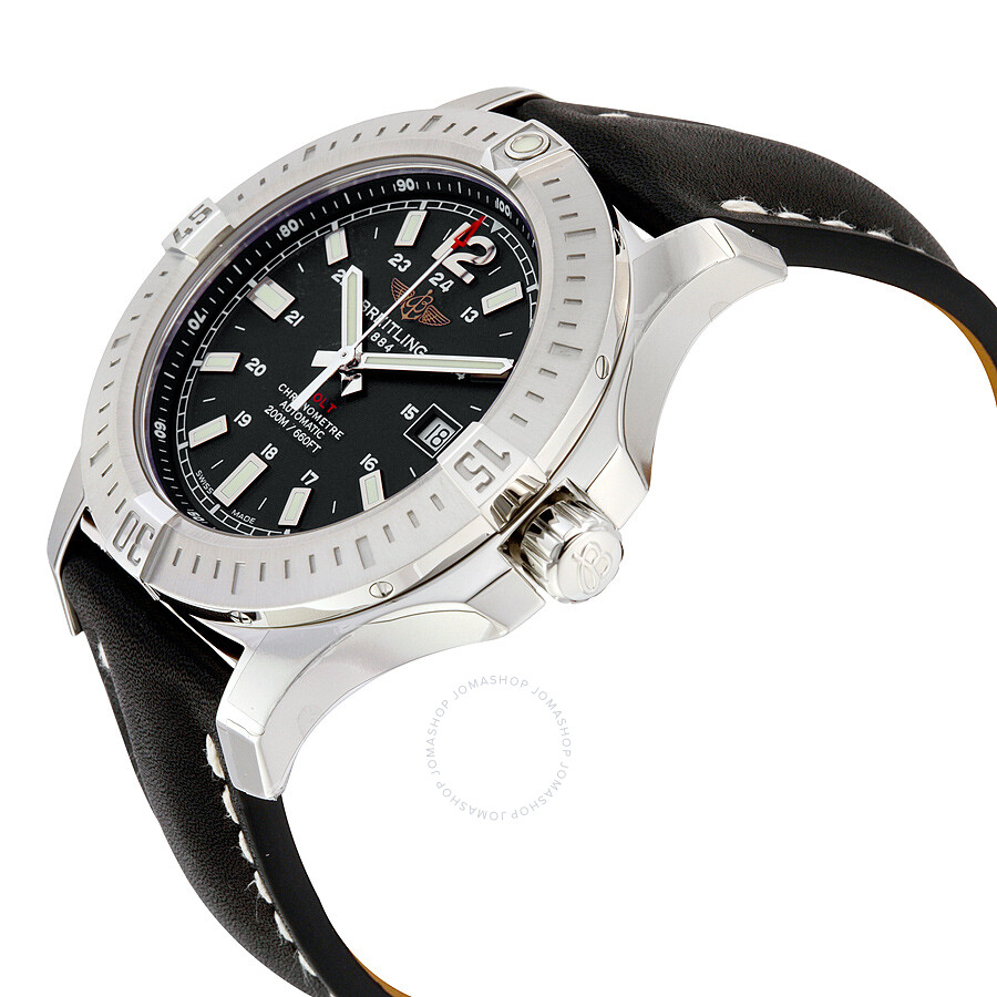 Breitling breitling colt 44 black dial automatic men 39 s watch a1738811 bd44bklt colt for Breitling automatic
