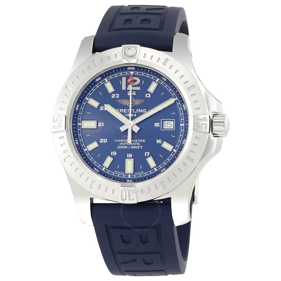 Breitling colt automatic blue dial men 39 s watch a1738811 c906blpt3 colt breitling watches for Breitling automatic