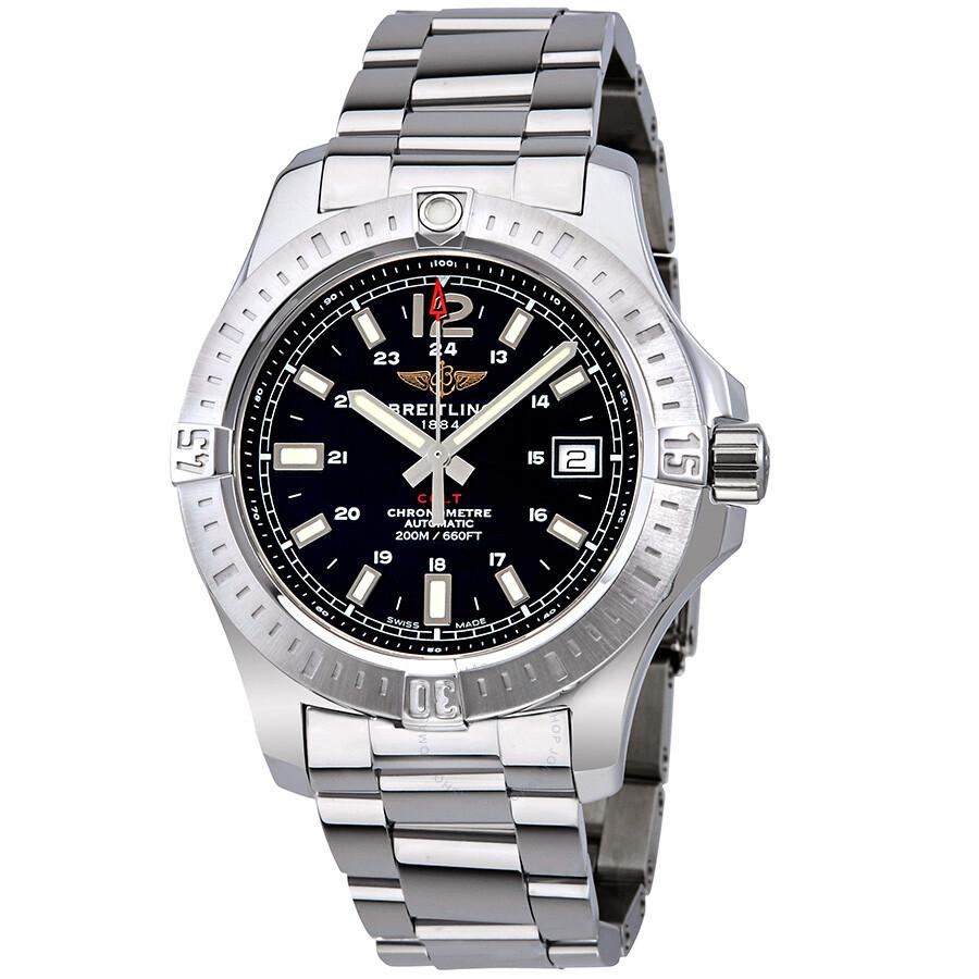 Breitling colt automatic black dial men 39 s watch a1731311 be90 182a colt breitling watches for Watches breitling