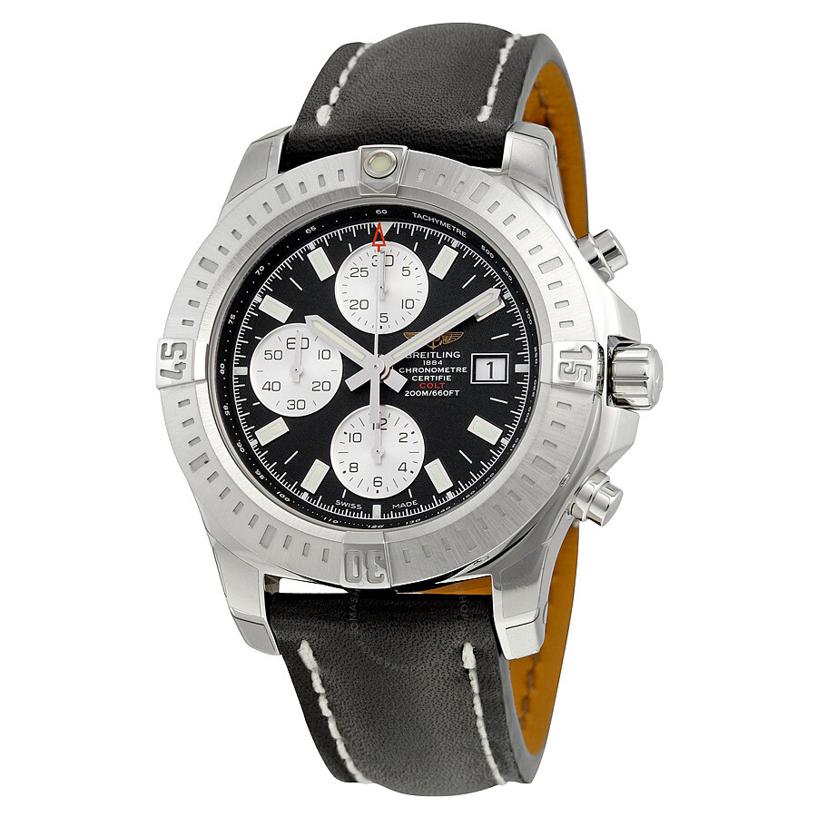 breitling colt chronograph automatic black dial men 39 s watch a1338811 bd83bkld colt breitling. Black Bedroom Furniture Sets. Home Design Ideas