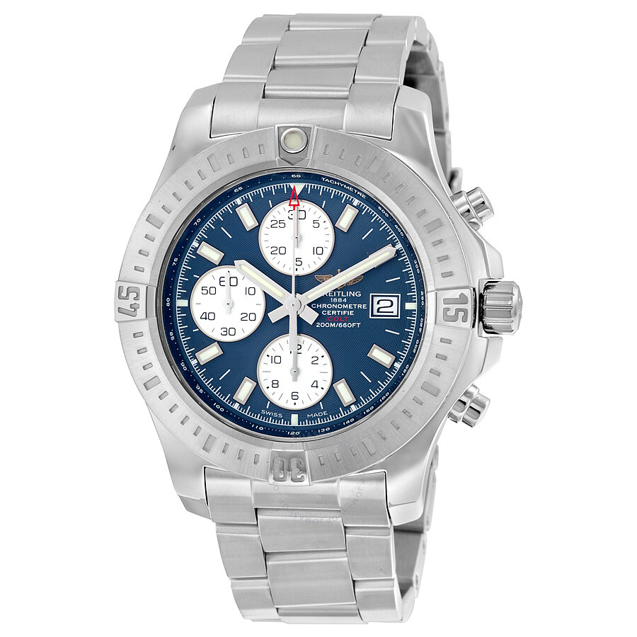 Breitling colt chronograph automatic mariner blue dial stainless steel men 39 s watch a1338811 for Breitling automatic