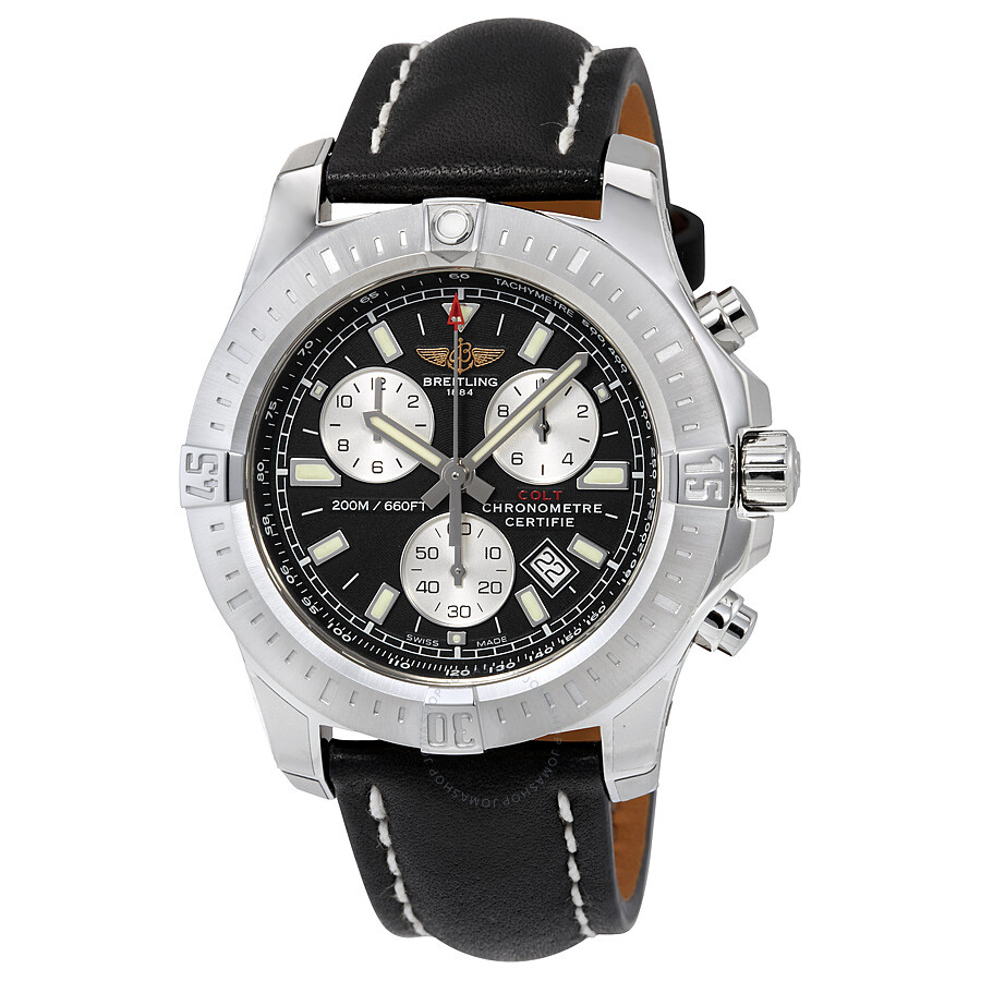 breitling colt chronograph black dial men 39 s watch a7338811 bd43bklt colt breitling watches. Black Bedroom Furniture Sets. Home Design Ideas