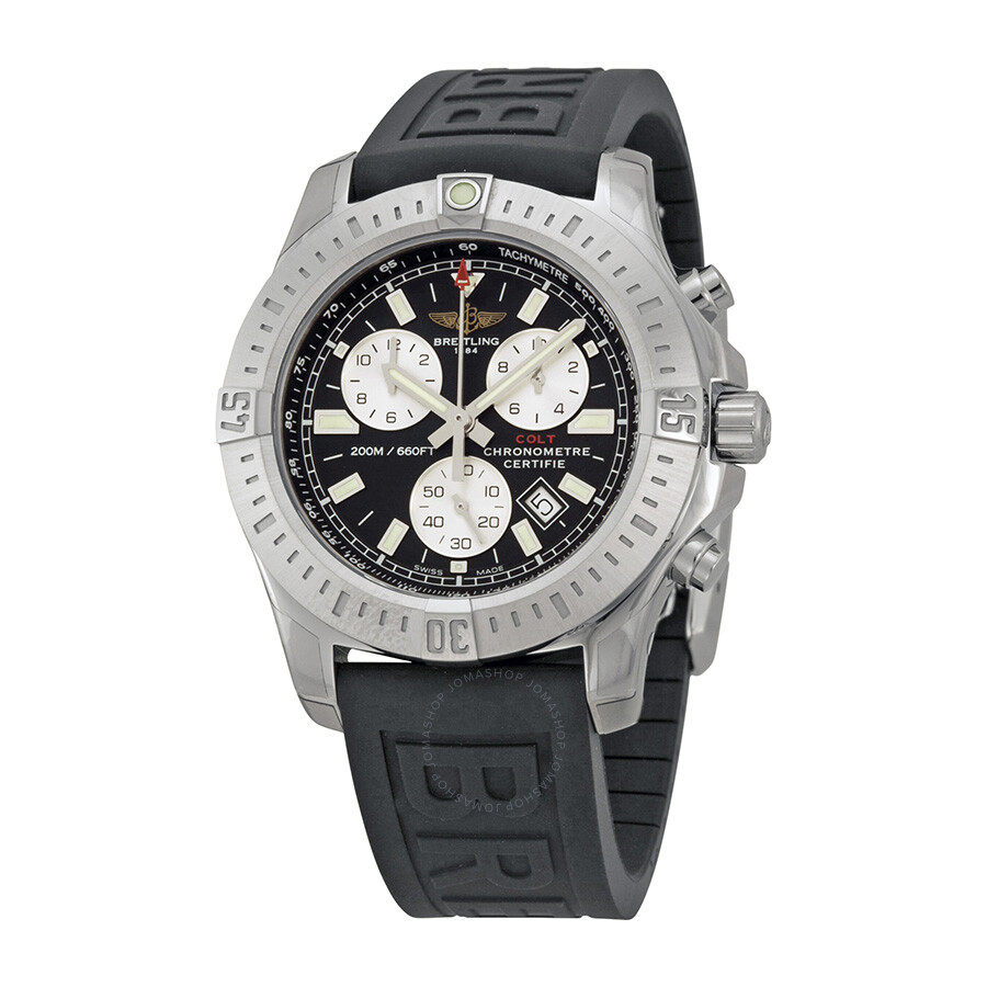 breitling colt chronograph black dial rubber strap men 39 s watch a7338811 bd43bkpd3 colt. Black Bedroom Furniture Sets. Home Design Ideas