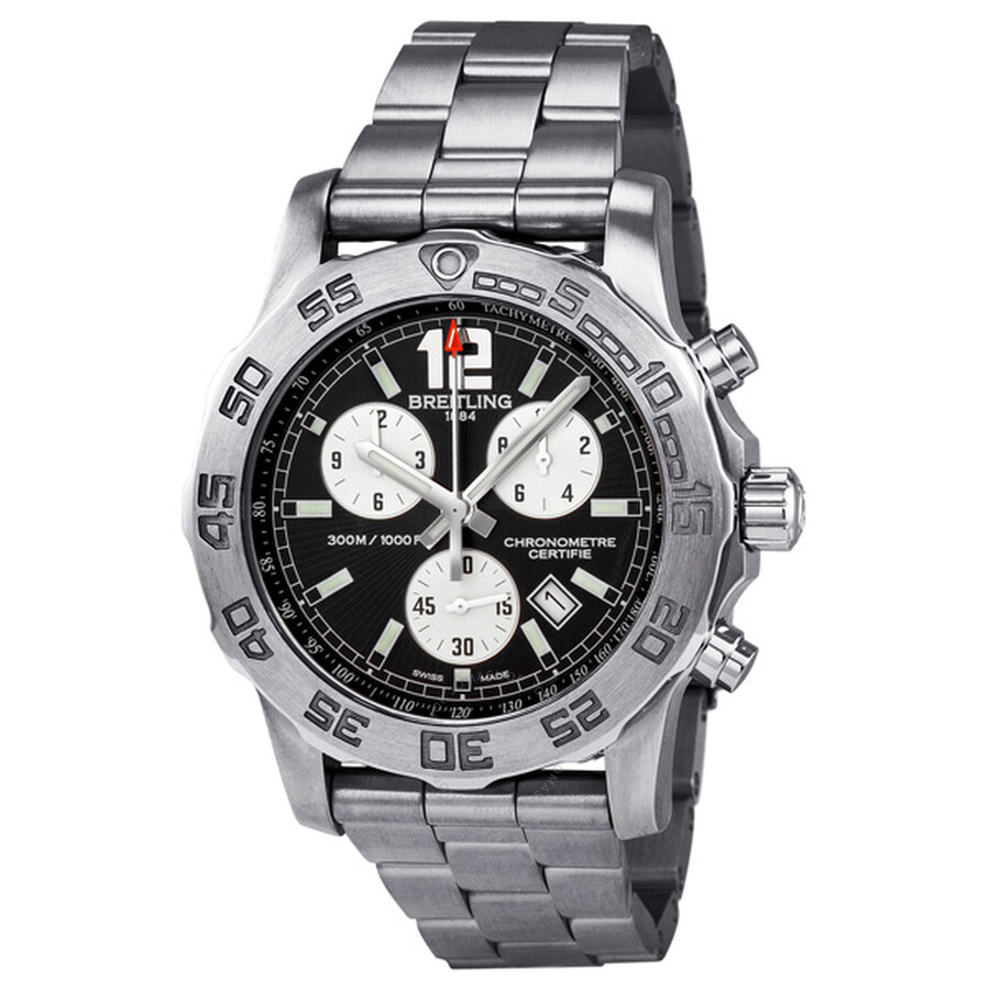 breitling colt chronograph ii black dial stainless steel men 39 s watch a7338710 bb49ss colt. Black Bedroom Furniture Sets. Home Design Ideas
