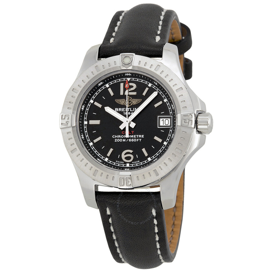 Breitling Colt Lady Black Dial Stainless Steel Ladies Watch  A7738811-BD46BKLT Item No. A7738811 BD46 - 408X-A14BA.1 5c2441aed36