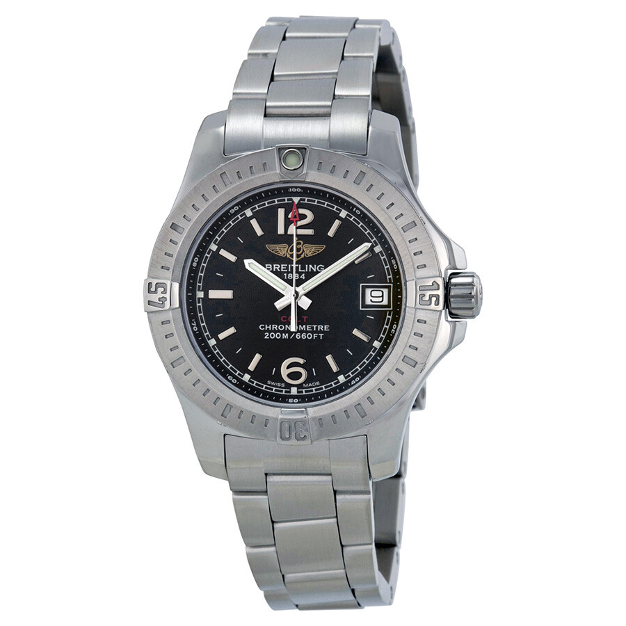 Breitling Colt Lady Black Dial Stainless Steel Watch A7738811-BD46SS Item  No. A7738811-BD46-175A 0c159f50642