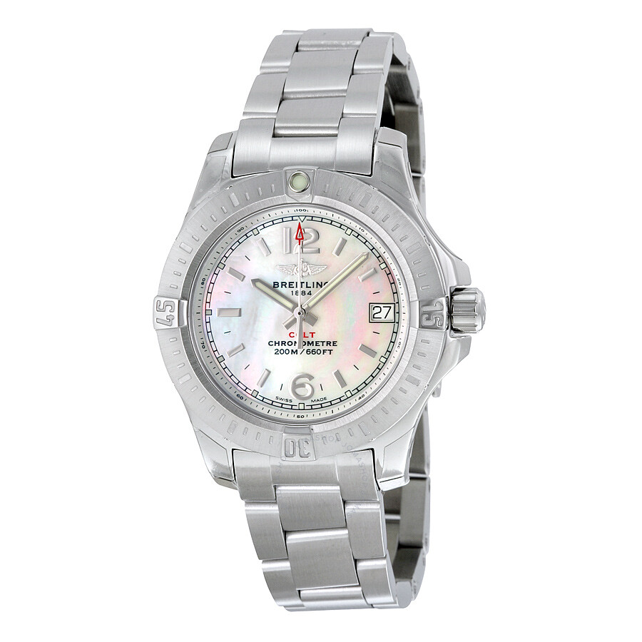 Breitling Colt Lady Mother of Pearl Dial Stainless Steel Quartz Ladies  Watch A7738811-A770SS ... 364657521f5