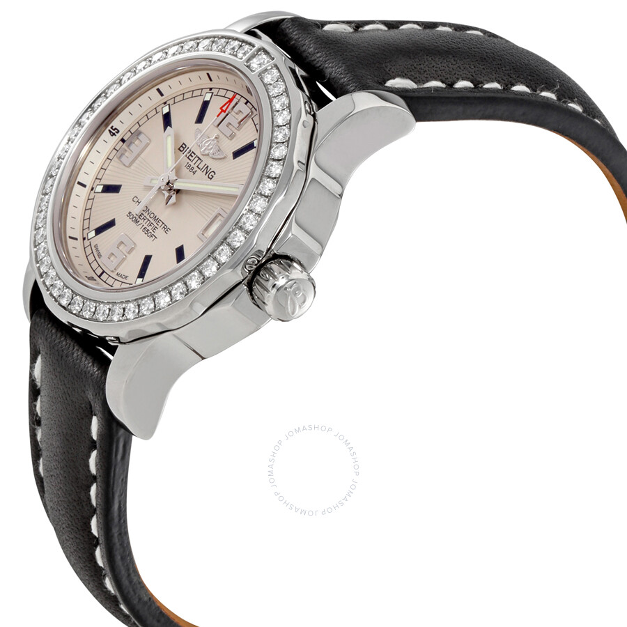 Breitling Colt Lady Silver Dial Diamond Bezel Ladies Watch ...