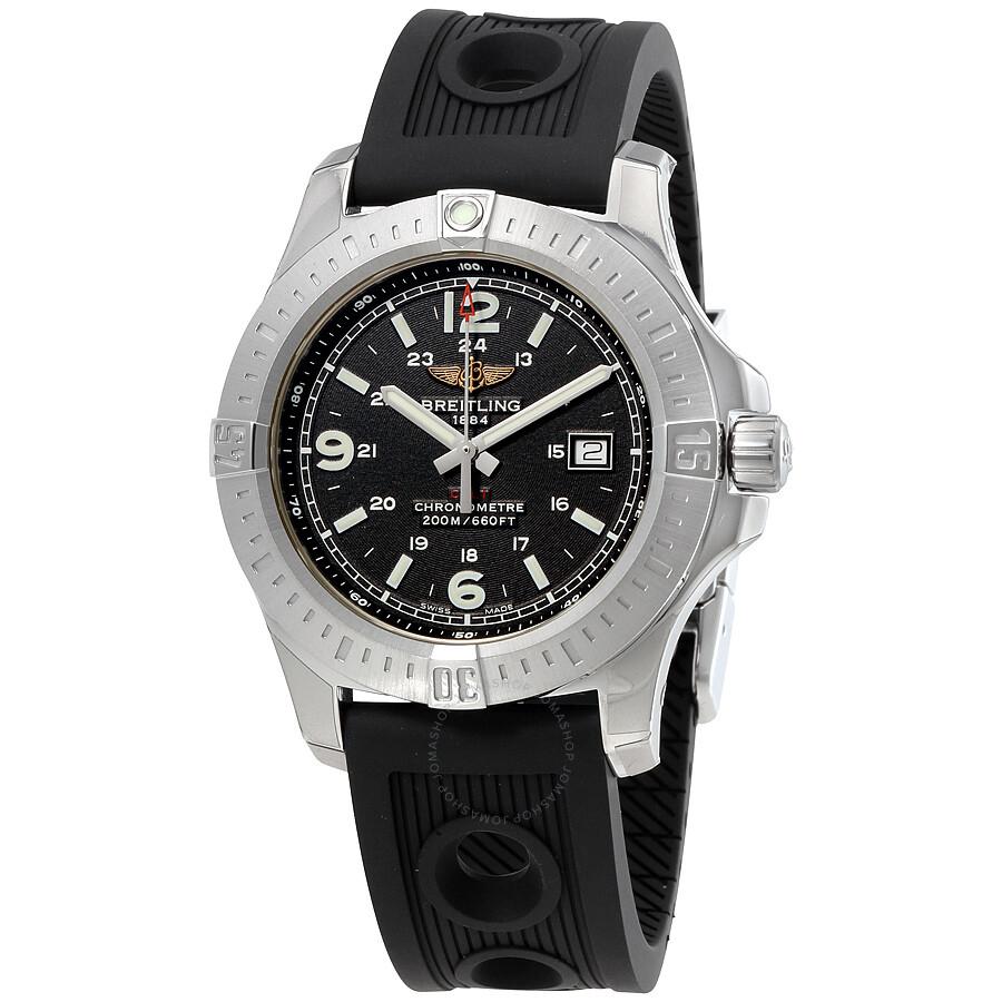 Breitling Colt Quartz Black Dial Men's Watch A7438811 ...
