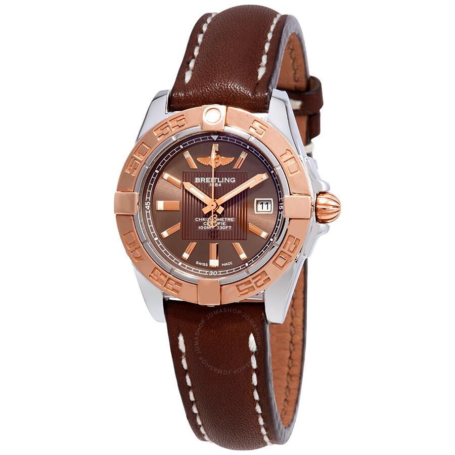 Breitling Galactic 32 Chronometer Bronze Dial Ladies Watch C71356L2Q581
