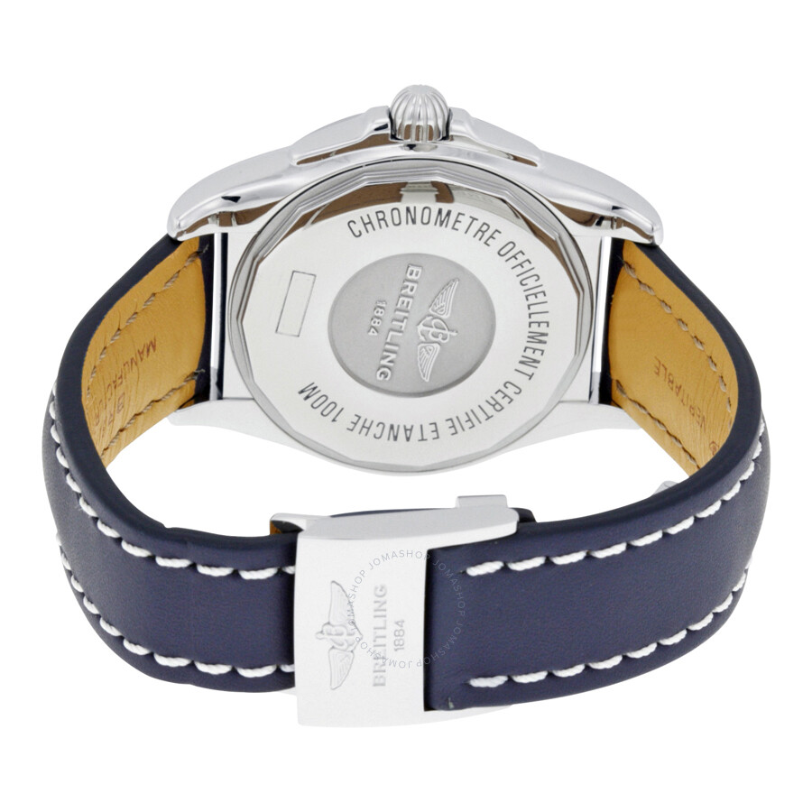 ... Breitling Galactic Unitime Antarctica White Dial Blue Leather Men's  Watch WB3510U0-A777BLLD