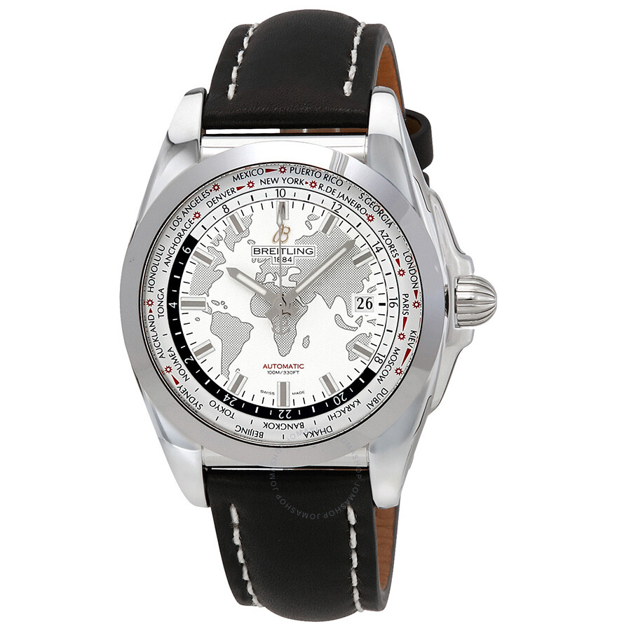 Breitling Galactic Unitime World Time Automatic Men's Watch  WB3510U0/A777BKLT ...