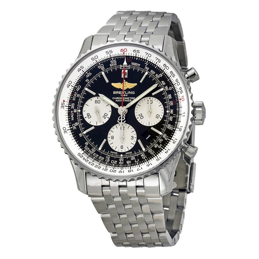 breitling navitimer 01 black chronograph stainless