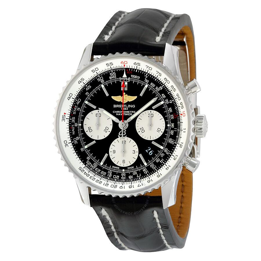 Breitling navitimer 01 chronograph men 39 s watch ab012012 bb01bkcd navitimer 01 navitimer for Watches breitling