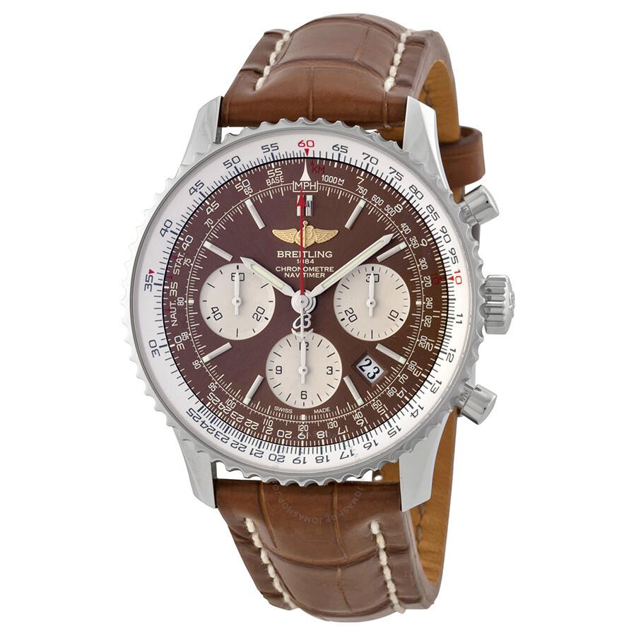 Breitling navitimer 01 panamerican men 39 s watch ab0121c4 q605brct navitimer 01 navitimer for Watches breitling