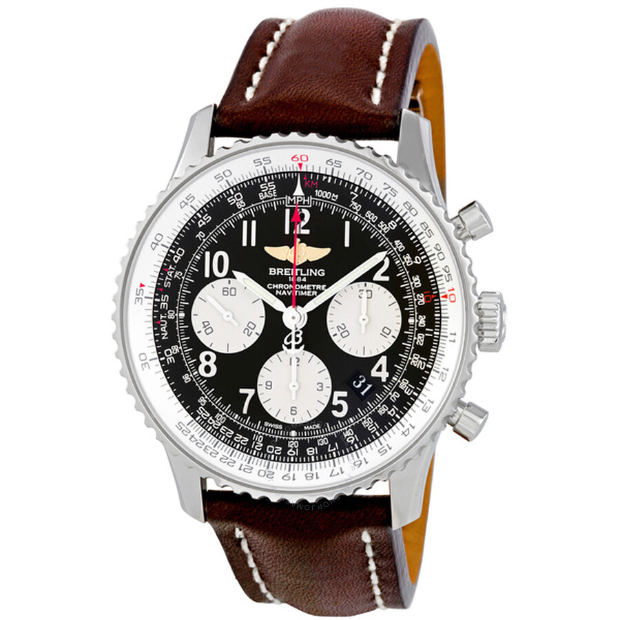 Breitling Bentley Leather Band: Breitling Navitimer 01 Stainless Steel Leather Automatic