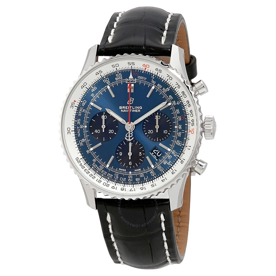 Navitimer 1 Chronograph Automatic Chronometer Blue Dial Men's Watch by Breitling