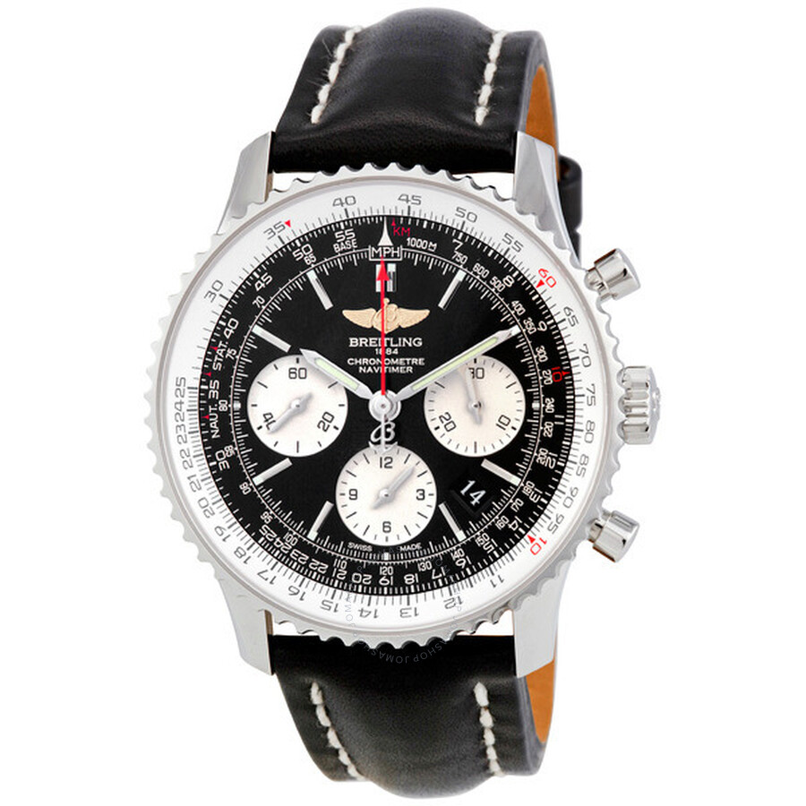 Breitling navitimer automatic chronograph men 39 s watch ab012012 bb01bk navitimer 01 navitimer for Breitling automatic