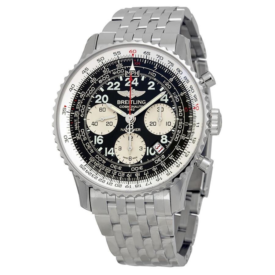 Breitling navitimer cosmonaute automatic men 39 s watch ab021012 bb59ss navitimer 01 navitimer for Watches breitling