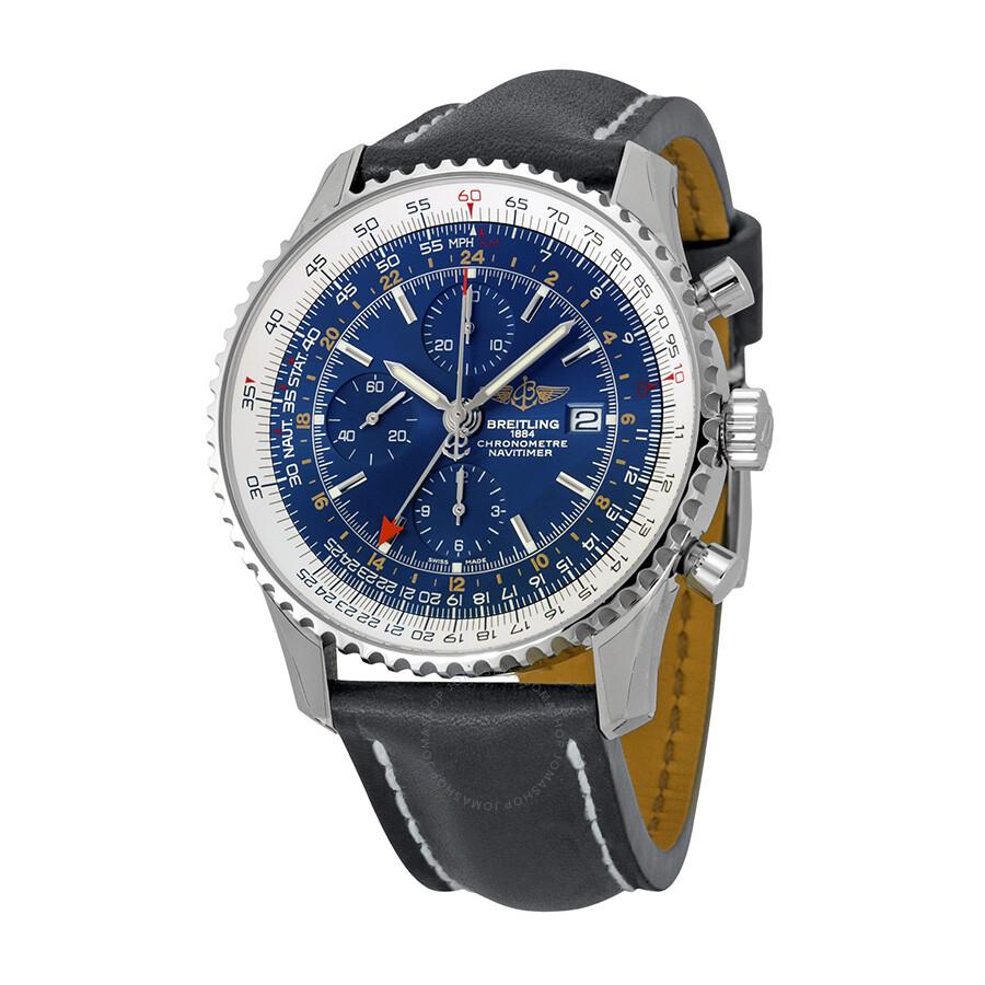 breitling navitimer world blue chronograph s