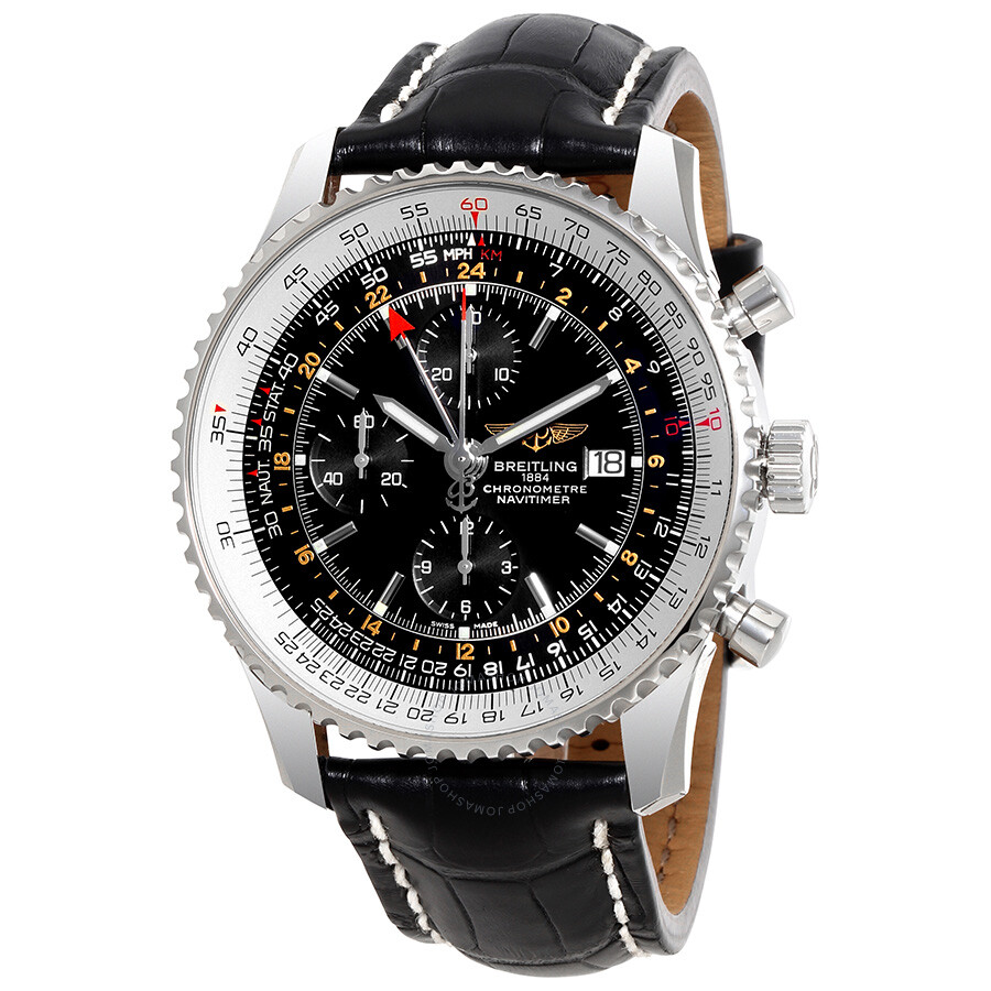 Breitling navitimer world chronograph automatic men 39 s watch a2432212 b726bkct navitimer world for Breitling automatic