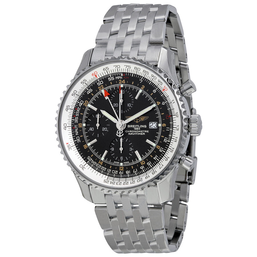 breitling navitimer world men s stainless steel watch black breitling navitimer world men s stainless steel watch black dial a2432212 b726ss