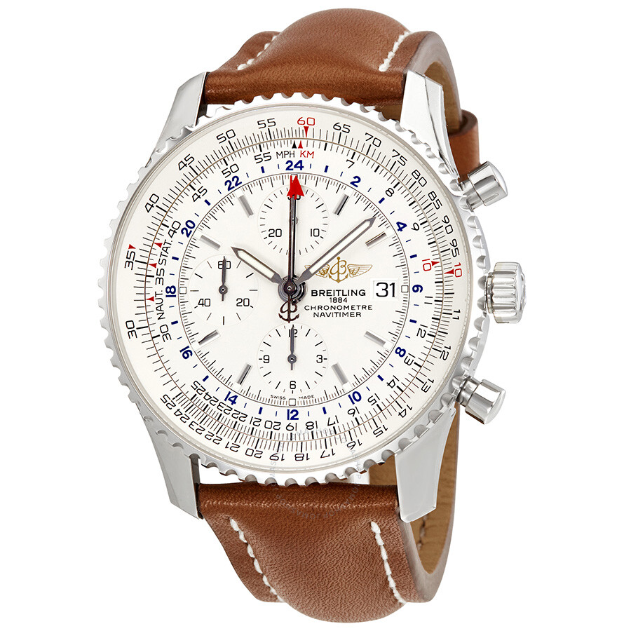 9b4a47849 Breitling Navitimer World Chronograph Automatic Men s Watch  A2432212-G571LBRLT Item No. A2432212-G571-439X-A20BA.1