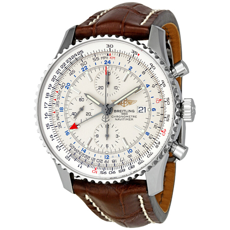breitling navitimer world silver automatic s