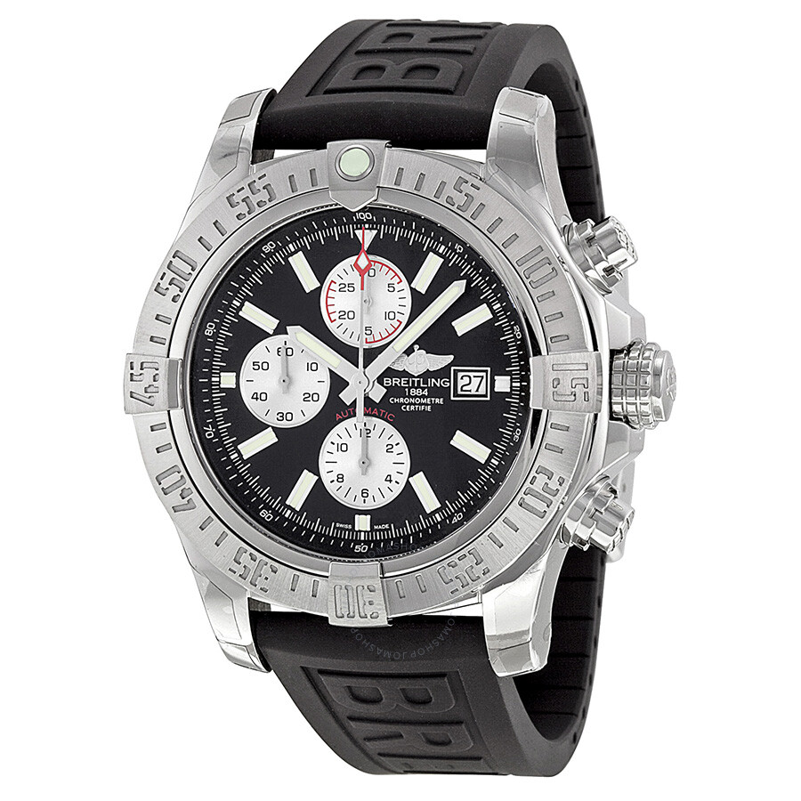 breitling super avenger ii automatic chronograph black rubber breitling super avenger ii automatic chronograph black rubber strap men s watch a1337111 bc29bkpd3