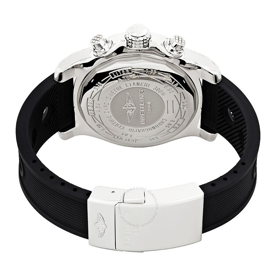 aa07746470e ... Breitling Super Avenger II Black Dial Black Rubber Men s Watch  A1337111 BC29BKOR