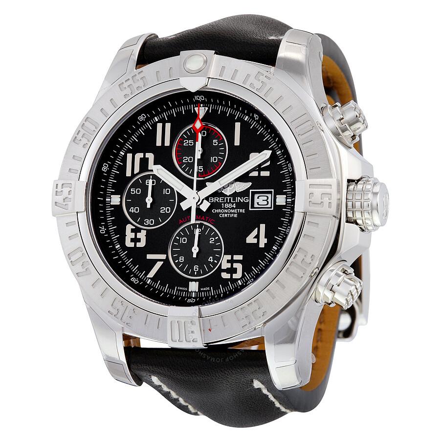 Breitling super avenger ii chronograph automatic men 39 s watch a1337111 bc28bkld super avenger for Avenger watches