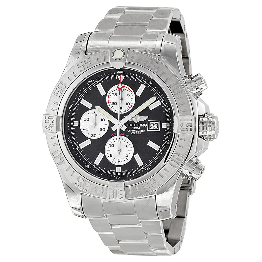 Breitling super avenger ii chronograph automatic men 39 s watch a1337111 bc29ss super avenger for Avengers watches